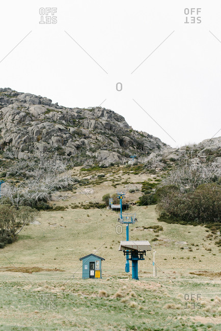 Weather station in a mountain setting