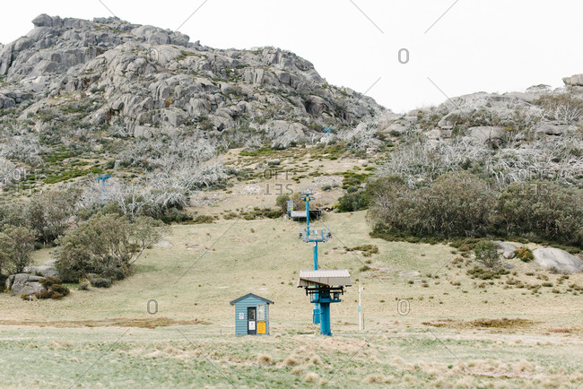 Weather station in mountain setting
