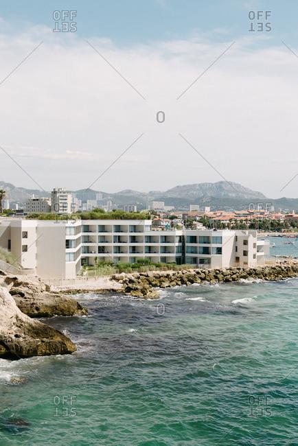 Resort along the Mediterranean coast