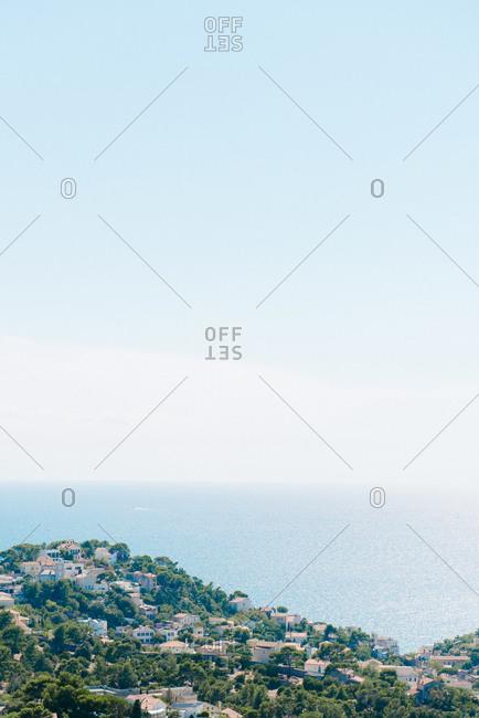 Small community along the Mediterranean coast