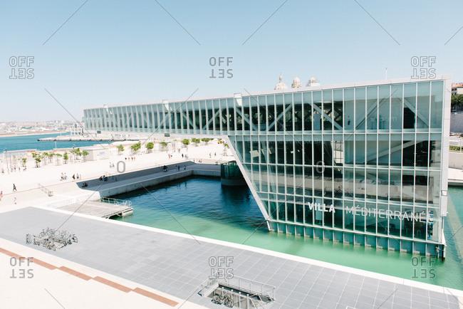 September 15, 2015: Modern conference center, Marseille, France