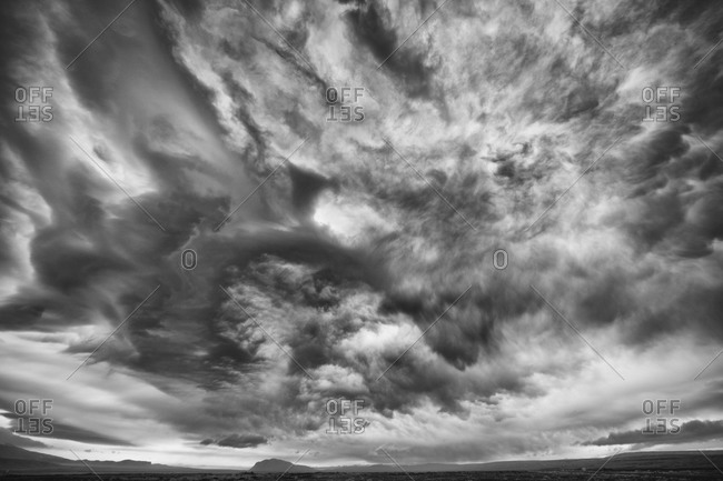 Cloudy sky over Iceland