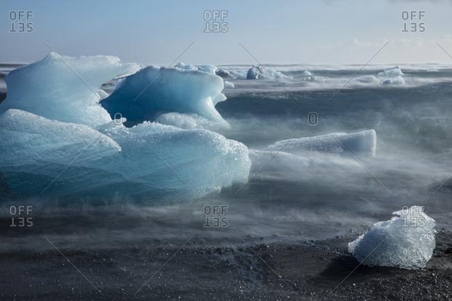 Icebergs on the coast of Iceland
