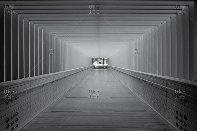 Tunnel in modern building in Dubai, UAE