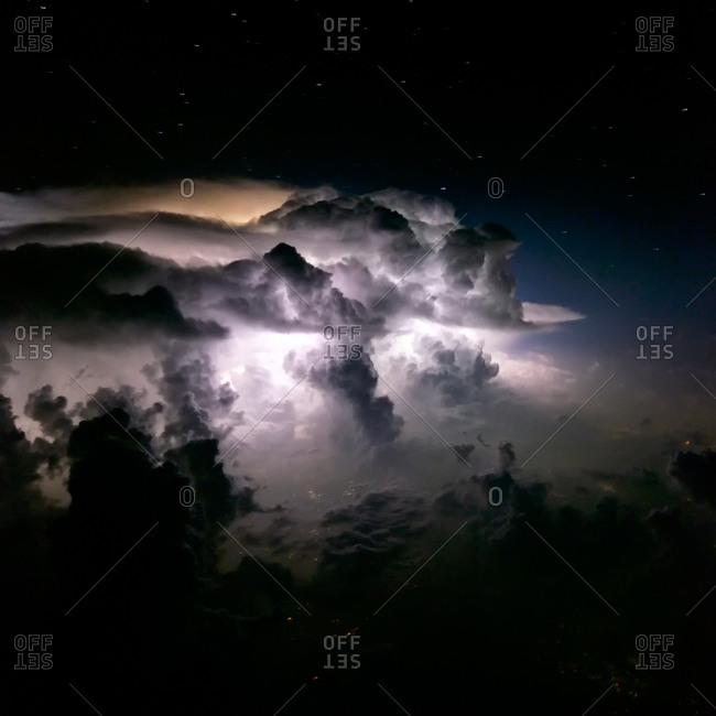 Thunderstorm clouds over Northern Pakistan