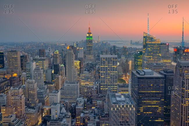 Midtown, Manhattan at dusk
