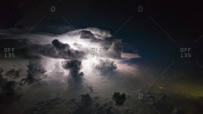 Lighting in clouds over Northern Pakistan
