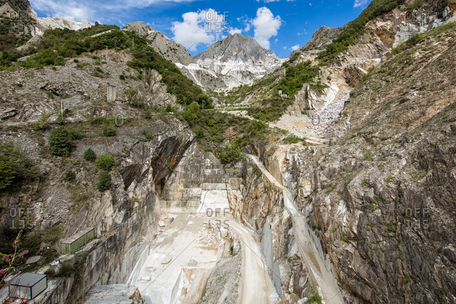 Marble quarry in Tuscany, Italy