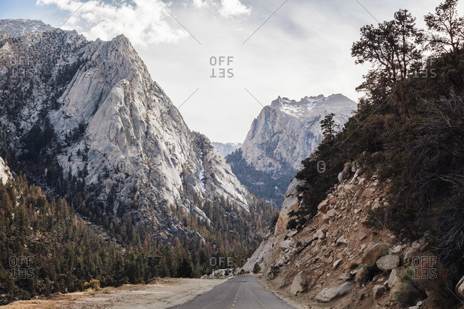 Empty highway in a mountain landscape