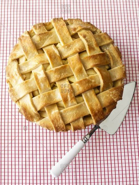 Apple pie with lattice crust