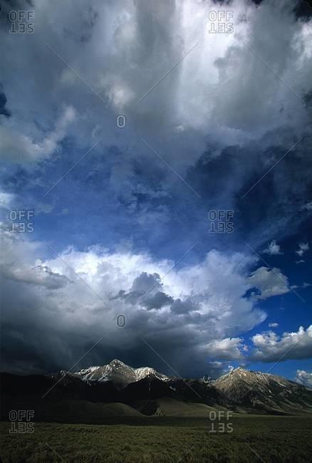Thunderstorm over Borah Peak, Lost River Range, Idaho
