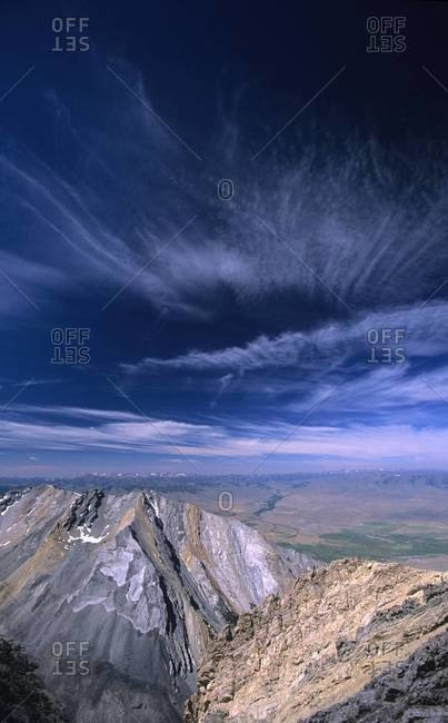 View of Lost River Range in Idaho