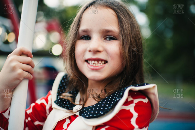 Portrait of young girl at playground