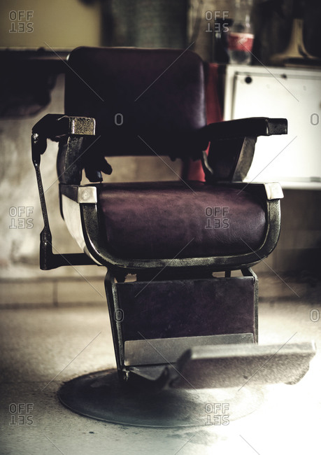 A barber's chair in Chattanooga, Tennessee