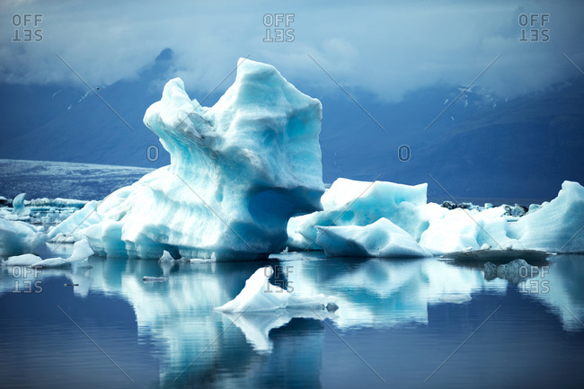 A big blue iceberg