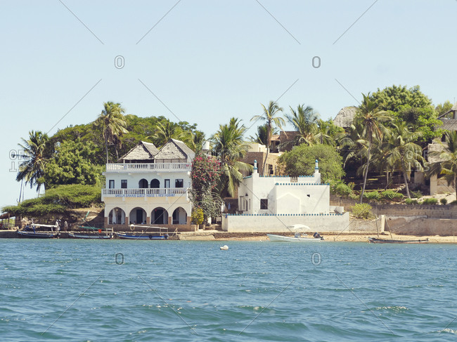 Shela village, Lamu island, Kenya - Beach, boats and hotel