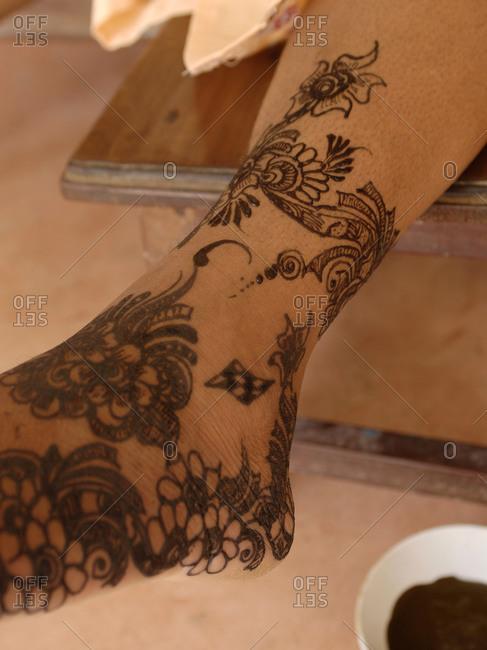 Shela village, Lamu island, Kenya - Henna ceremony close-up