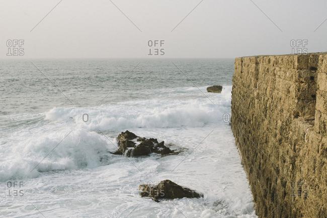 Fortress at the old city of Acre at Haifa Bay, Israel