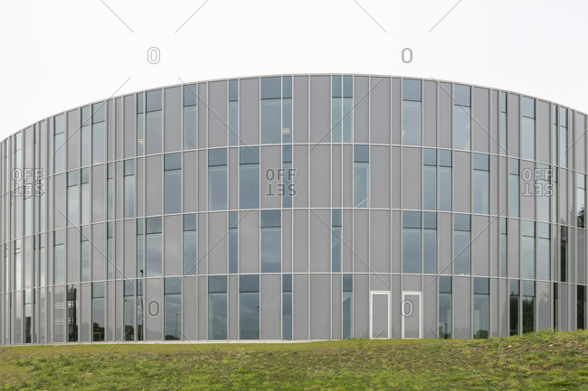 Ghent, Belgium - September 26, 2014: Rounded side of modern building