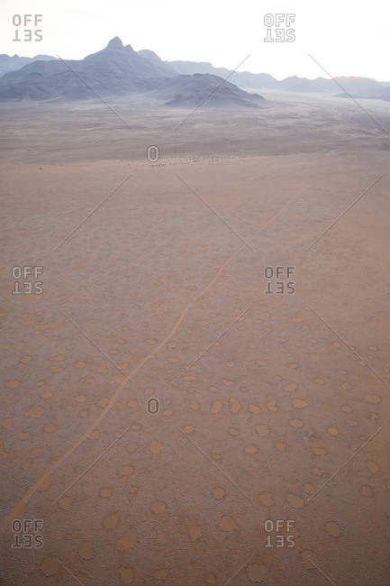 Dirt track through the Namib Desert, Namibia, Africa