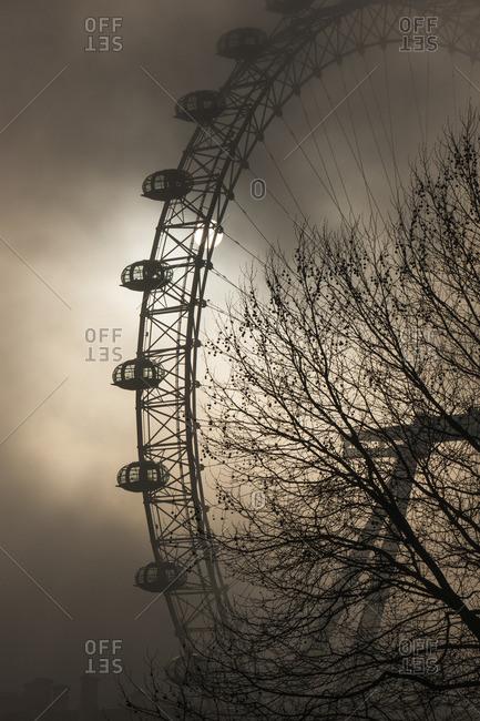 London, England, United Kingdom - January 21, 2014: London Eye