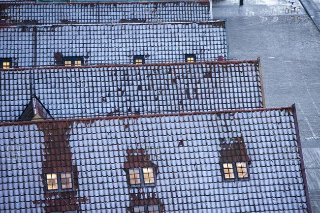 Winter rooftops, Bergen, Norway