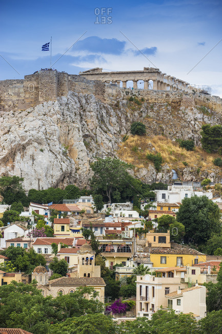 View of Plaka and The Acropolis, Athens, Greece