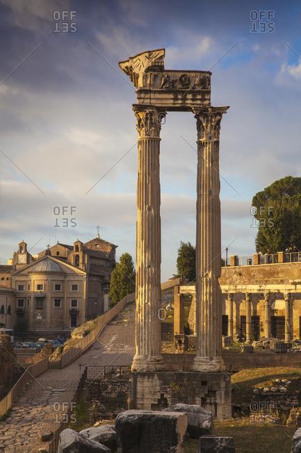 The Roman Forum, UNESCO World Heritage Site, Rome, Lazio, Italy