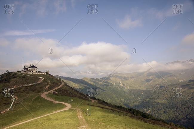 Building in Italian mountain landscape