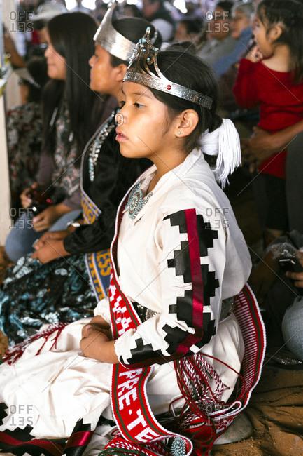 Window Rock, AZ, USA - September 9, 2015: Miss Navajo Nation Beauty pageant, Navajo Nation Fair, Navajo Nation, Window Rock, AZ, USA