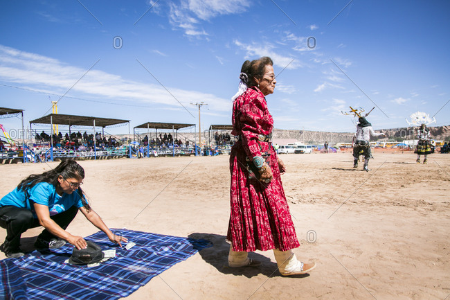 Window Rock, AZ, USA - September 9, 2015: Navajo Elders, Navajo Nation Fair, Navajo Nation, Window Rock, AZ, USA