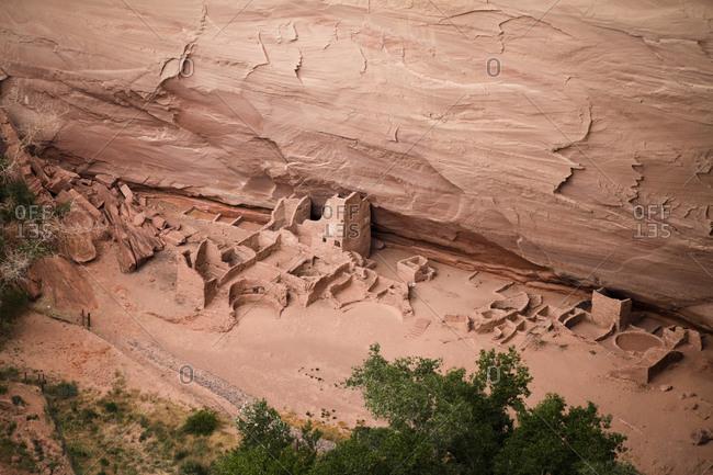 Village remains at Canyon de Chelly, Chinle, Arizona, USA