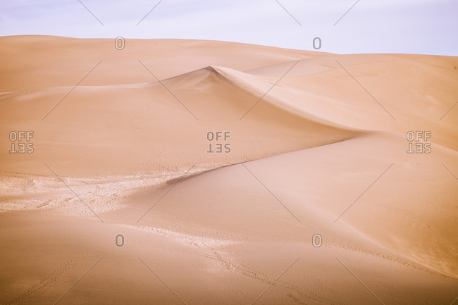 Top of a sand dune at Sand Dunes National Park in Colorado, USA