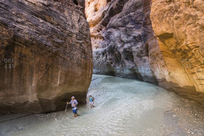 Hiking down the Paria river, Utah