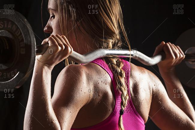 Fit woman lifting