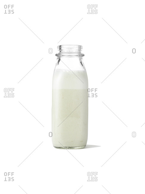 Glass bottle of milk