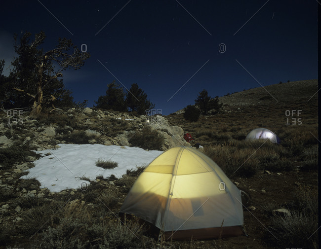 Camping on Telescope Peak in Death Valley National Park, California