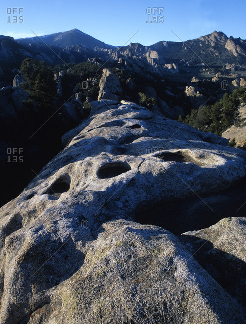 View of City of Rocks National Reserve in Idaho