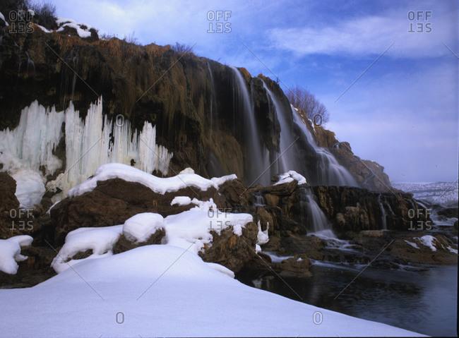 Winter at Fall Creek Falls in Idaho