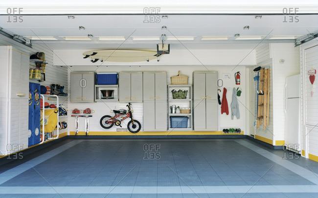 Garage with tidy organization