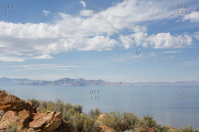 Overlooking the Great Salt Lake from Antelope Island