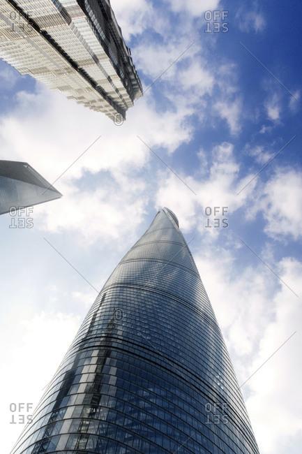 Shanghai skyscrapers from below