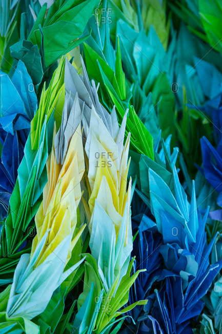 Origami flowers, Japanese World War II memorial, California