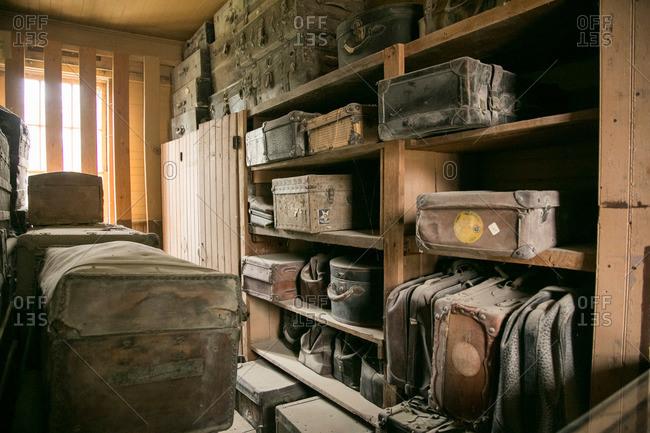 Old railroad station luggage room