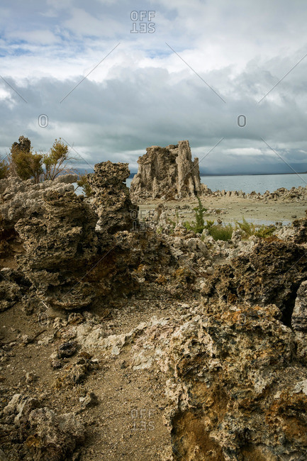 Rock formations in Mono Lake, California