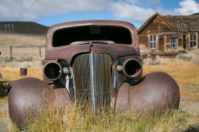 Old car in California ghost town