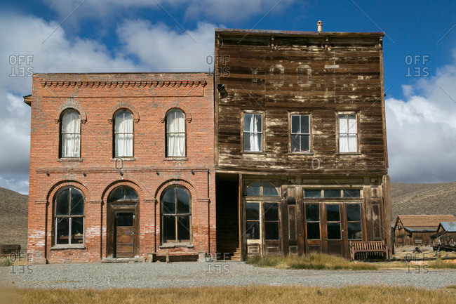 Old abandoned buildings in Bodie, California
