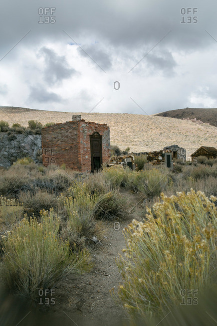 Buildings of abandoned mining town in California