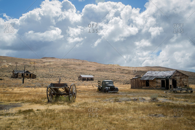 Abandoned mining town in California