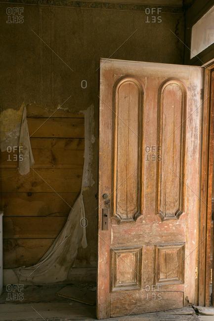 Front door of ghost town house